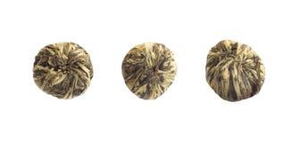 Pu herbaciane granule kompresować w pastylki obrazy stock