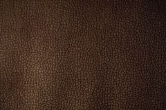 PU leather brown texture. Closeup view Stock Image