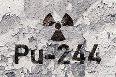 Pu 244 - radioactive Plutonium isotope Royalty Free Stock Images