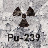 Pu 239 - radioactive Plutonium isotope Stock Photography