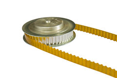 PU timing belt and pulley stock image