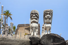 PU uhonua μεγάλο νησί Χαβάη πάρκων ohonaunau εθνικό ιστορικό στοκ εικόνα με δικαίωμα ελεύθερης χρήσης