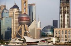 Pu van Shanghai dong Lujiazui Stock Fotografie