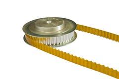 PU-Zahnriemen und Seilrolle Stockbild