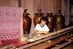 Pua Kumbu weaving Stock Photos