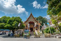 Puak Pia Temple or Wat Puak Pia in the Chiangmai Royalty Free Stock Photos