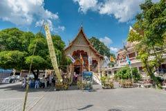 Puak Pia Temple or Wat Puak Pia in the Chiangmai Stock Photos