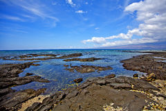 Puako海洋场面 库存图片