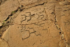 Puako Petroglyph Field Royalty Free Stock Photo