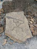 Puako-Petroglyphe-Park lizenzfreies stockfoto