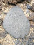 Puako-Petroglyphe-Park lizenzfreie stockbilder