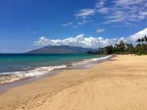 Puamana Strand, Maui Lizenzfreies Stockfoto