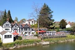 Pub Alongside River Severn, Shrewsbury. Stock Photos
