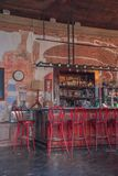 In the Pub. Pub in Antigua Guatemala ready for drinkers to attend Stock Image