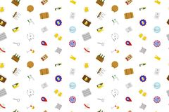 Pub background from color icon. Multicolor vector pattern Royalty Free Stock Images
