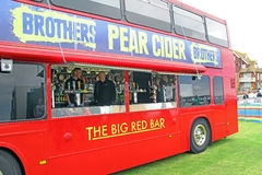 Pub bar in a bus Royalty Free Stock Photos