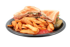 Pub blt and fries meal Royalty Free Stock Photography