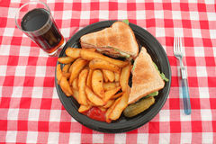 Pub blt and fries meal Stock Images