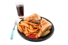Pub blt and fries meal Royalty Free Stock Images
