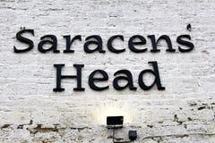 Pub capo saracen in Towcester fotografia stock libera da diritti