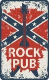 Pub con música rock ilustración del vector