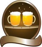 Pub de bière de symbole Image libre de droits
