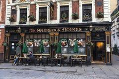 Pub de Sherlock Holmes en Londres, Inglaterra, Reino Unido Foto de archivo libre de regalías