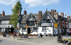 Pub di Sandbach fotografia stock libera da diritti