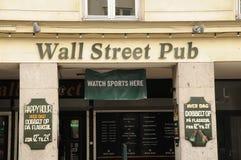 PUB DI WALL STREET Fotografie Stock