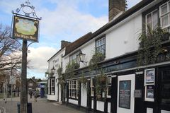 Pub in the downtown area of crawley west sussex stock photography