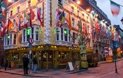 Pub Dublin de rue John Gogarty d'Oliver image stock