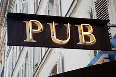 Pub facade Royalty Free Stock Photos