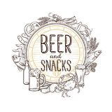Pub food and beer Stock Images