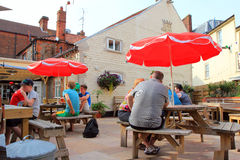 A pub garden. Royalty Free Stock Photos