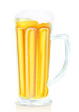 Pub glass of beer with foam and vials Royalty Free Stock Photography