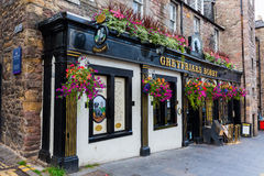 Pub at the Greyfriars Kirkyard in Edinburgh, Scotland Royalty Free Stock Photos
