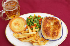 Pub grub pie meal stock photo