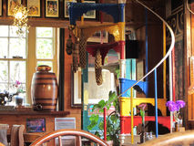 Pub interior in England. Colourful corner of an english public house Royalty Free Stock Image