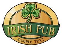 Pub irlandês ilustração stock