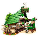 Pub irlandais Images stock