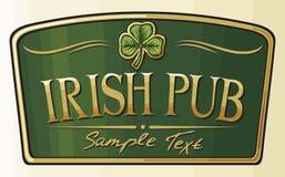 Pub irlandese illustrazione di stock