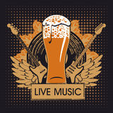 Pub with live music. Banner for the pub with live music Royalty Free Stock Images