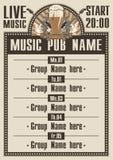 Pub musical stock de ilustración