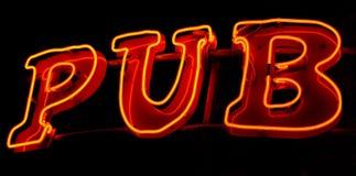 Pub neon Stock Image