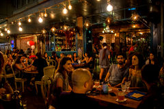 Pub night life in Tel Aviv, Israel Royalty Free Stock Images