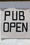 Pub Open. Sign in Little Karoo. South Africa Stock Photos