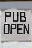Pub Otwarty Zdjęcia Stock