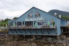 A pub at the prince rupert marina Royalty Free Stock Photography