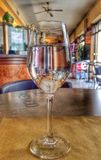 Pub reflected in a glass Royalty Free Stock Images