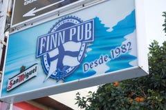 Pub sign Finn pub, since 1982 in Torremolinos,Spain.  Stock Photo